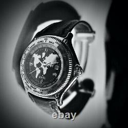 Ebel Voyager Vintage Automatic World Timer GMT 38 MM Rare 9124913