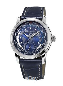 Frederique Constant FC-718NWM4H6 World Timer Automatic 42mm Leather Men's watch