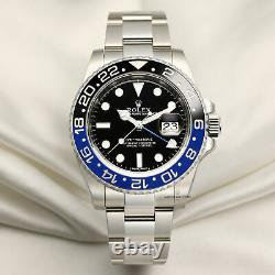 Full-Set Rolex GMT-Master II Batman 116710BLNR Stainless Steel Rolex Serviced