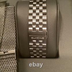 GLYCINE Airman GL0064 42mm World Time Automatic GMT Men's Watch with Box/Papers