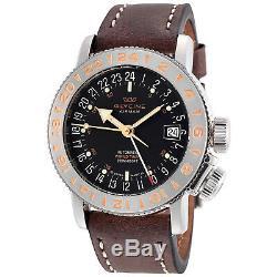 Glycine 3918.196. LB7BF Men's Airman 18 GMT Automatic 39mm Black Dial Watch