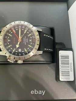 Glycine AIRMAN BASE 22 GL0209 Automatic 42mm Black Dial Leather Wrist Watch