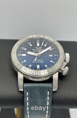 Glycine Airman World Timer Purist GMT 44mm Blue Dial GL0057 Swiss Automatic