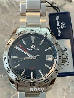 Grand Seiko 9F Quartz GMT 25th Anniversary 40mm Steel bracelet Ref#SBGN005
