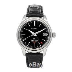 Grand Seiko Hi-Beat GMT Auto Steel Mens Strap Watch Date SBGJ019