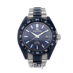 Grand Seiko Hi-Beat GMT LE Auto Titanium Mens Bracelet Watch Date SBGJ229