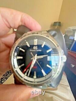Grand Seiko SBGN005 Blue Dial High Accuracy Quartz 9F86 Full Set