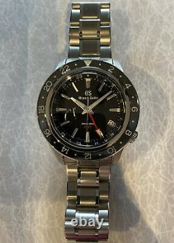 Grand Seiko Sport Spring Drive GMT 44mm Steel Mens Bracelet Watch Date SBGE201