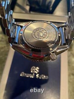 Grand Seiko Spring Drive Black Dial Power Reserve Gmt 44mm Sbge201 Full Set