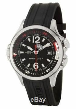 Hamilton Khaki Navy GMT Diver Men's 42 mm Automatic Watch H77555335 NEW