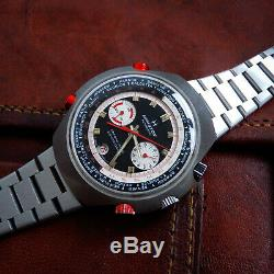 Hamilton RARE Vintage COUNT-DOWN GMT CHRONO-MATIC 141001-3 48mm World Time GMT