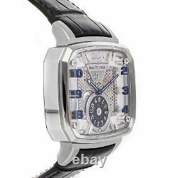 Hautlence Destination 02 Auto Titanium Mens Strap Watch Date GMT MTE002234