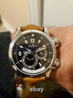 JAEGER-LECOULTRE Master Compressor Geographic 146.8.83 GMT Steel Automatic