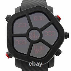 Jacob & Co. Ghost Carbon Bezel Black Quartz Mens Watch GH100.11. NS. PC. ANA4D
