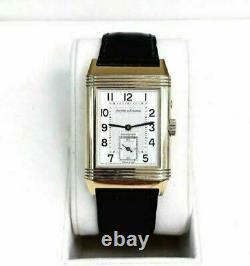 Jaeger-LeCoultre Reverso Duo Date Watch Solid 18K Yellow Gold Ref # 270.2.54 Box