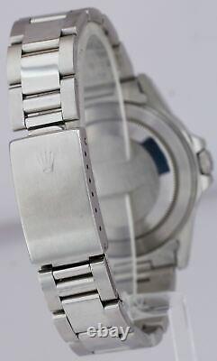 Men's 1996 Rolex Explorer II Stainless Steel Black Date GMT 40mm Watch 16570