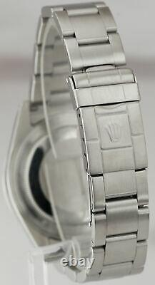 Men's 2002 Rolex Explorer II SEL Stainless Steel Black Date GMT 40mm Watch 16570