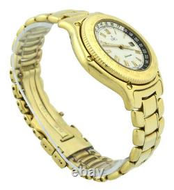 Men's Ebel Voyager 8124913 GMT 18k Yellow Gold 38mm White Dial Automatic with Box