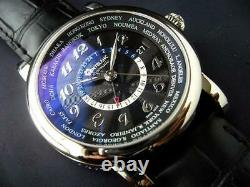 Montblanc Star World Time GMT 109285 Automatic Leather Black Dial Men's 42mm