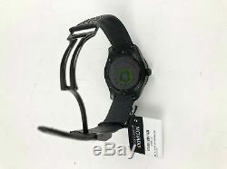 Movado Series 800 GMT World Time Perf Strap, Black Dial Black PVD Case NEW NIB