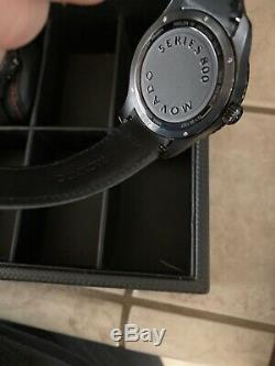 Movado Series 800 GMT World Time Perf Strap, Black Dial Black PVD Case Pre Owned