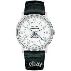NEW Blancpain Villeret Complete Calendar Moonphase GMT 6676-1127-55b Mens Watch