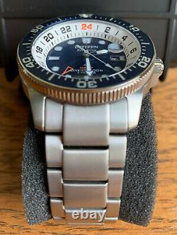 NEW Limited CITIZEN Titanium PROMASTER Eco-Drive Sapphire GMT Diver BJ7111-86L