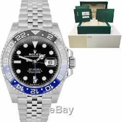 NEW MARCH 2020 Rolex GMT Master II Batman Black Blue SS Ceramic 126710 BLNR B+P