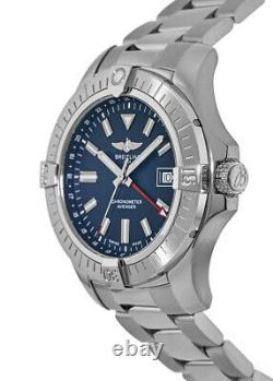 New Breitling Avenger Automatic GMT 45 Blue Dial Men's Watch A32395101C1A1