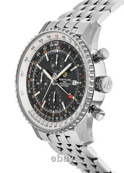 New Breitling Navitimer Chronograph GMT 46 Automatic Men's Watch A24322121B2A1
