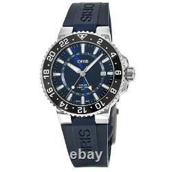 New Oris Aquis GMT Date Blue Dial Men's Watch 01 798 7754 4135-07 4 24 65EB