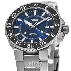 New Oris Aquis GMT Date Blue Dial Men's Watch 01 798 7754 4135-07 8 24 05PEB
