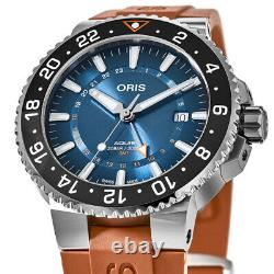 New Oris Aquis GMT Date Carysfort Reef Men's Watch 01 798 7754 4185-Set RS