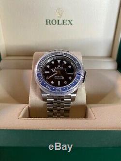 New Rolex GMT Master II Batman Jubilee #126710BLNR