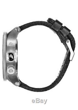 Nixon Passport Swiss GMT World-Time Black Nylon Strap Men's Watch A32100000 $400