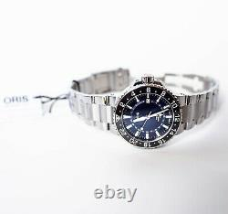 Oris Aquis GMT Date Blue Men's Watch New With Tags