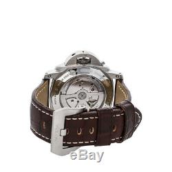 Panerai Luminor 1950 10-Days GMT Auto 44mm Steel Mens Strap Watch Date PAM 270
