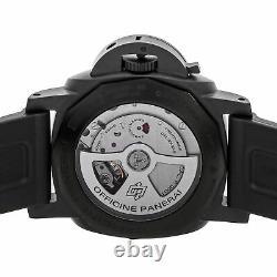 Panerai Luminor 1950 3 Days GMT Auto 44mm Ceramic Mens Strap Watch Date PAM 441