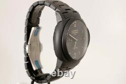 Panerai Luminor GMT Ceramica Tuttonero 3 Day P. 9001 Black Ceramic Watch PAM 438