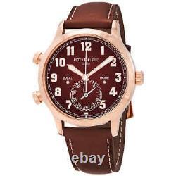 Patek Philippe Calatrava Pilot Travel Time 18kt Rose Gold Automatic Men's Watch