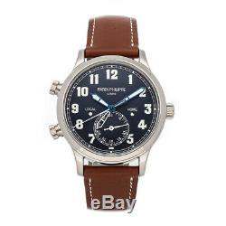 Patek Philippe Complications Calatrava Pilot Auto Gold Men Strap Watch 5524G-001