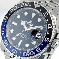 ROLEX GMT MASTER ll 126710BLNR BATMAN STEEL BLUE BLACK 126710 BLNR JUBILEE
