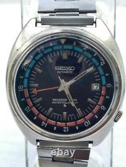 Rare Vintage Seiko 6117 6410 Automatic GTM Navigator Timer 70M