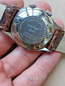 Revue Thommen Cricket Gmt 7910003 Limited Edition World Time Watch Cal. 475