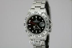 Rolex Explorer II 16550 Black Dial Stainless Steel Vintage Watch 1980s 9 Million