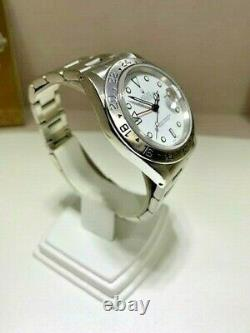 Rolex Explorer II 16570 40mm Stainless Steel White Dial Open Papers 1991