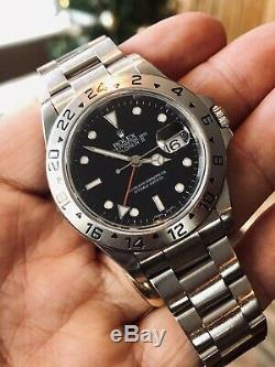 Rolex Explorer II 16570 Black Dial Red GMT Hand Mens watch + authenticity card