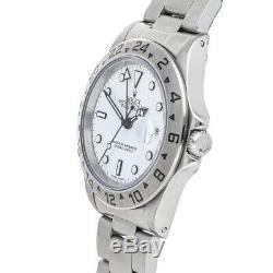 Rolex Explorer II 40 White Dial Steel Automatic Mens Bracelet Watch 16570
