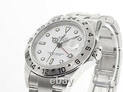 Rolex Explorer II 40mm Stainless Steel White Dial & Steel Bezel 16570W