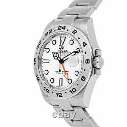 Rolex Explorer II Auto 42mm Steel Mens Oyster Bracelet Watch Date GMT 216570
